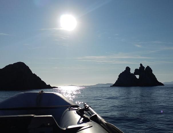 Balade en bateau à Porquerolles